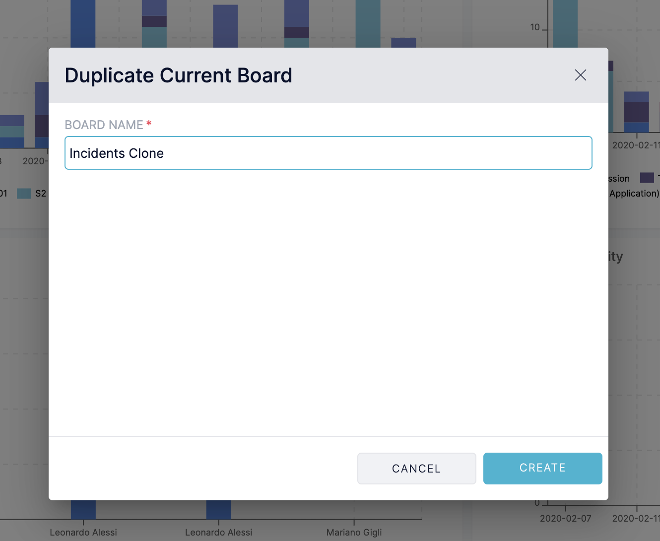 Reliability Insights - Clone Blameless Board Modal